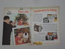 advertising Pubblicità 1959 KODAK CORREDO RETINETTE/BROWNIE STARLET