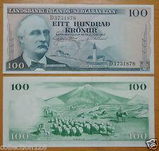 Iceland Republic Landsbanki Islands - Sedlabankinn 100 Kronur 1957 UNC