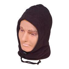 Black Fleece Hood And Neck Balaclava Open Face Snood Balaclava