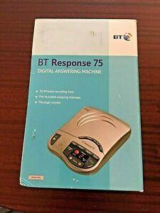 BT Response 75 Answerphone Telephone Vintage Silver