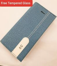 Slim Leather Wallet Flip Case Cover Stand Card Holder For Apple iPhone 5s.