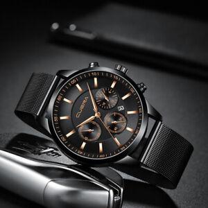 Waterproof Men's Watch Stainless Steel Quartz Luminous Classic Watches