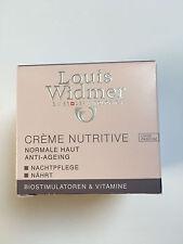 Creme Nutritive Nachtpflege Louis Widmer Normale Haut Anti Aging 50 ml