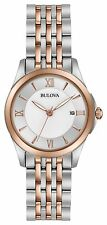 New Bulova 98M125 Rose Two Tone Stainless Steel Ladies Watch