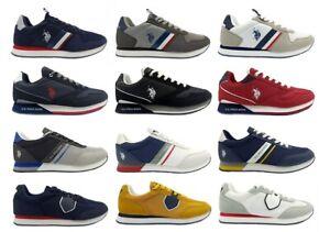 Chaussures De pour Homme US Polo Baskets Casual Basses Confortable Marche à la