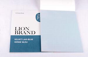 Vintage Lion Brand Velvet Laid Blue Size 2 Pad (18 Sheets) x 2