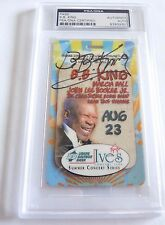 BB King Signed Autographed PSA Certified & Slabbed Laminated Backstage Pass