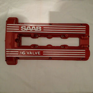 SAAB 900 TURBO 16V CLASSIC REFURBISHED RED ROCKER / CAM COVER