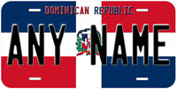 Dominican Republic Flag Any Text Personalized Novelty Car License Plate