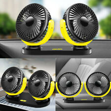 12V-24V Portable Cooling Car Fan Auto Vehicle Air Conditioner 360° Rotatable