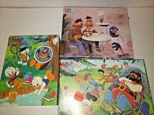 Sesame Street Muppets, Huey Dewey & Louie, Gullivers Travels Puzzle Lot