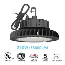Hyperlite 250W UFO LED High Bay shop Lights Warehouse IP65 UL DLC black 4000K