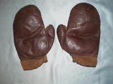 Superbe vintage anglais marron en cuir gants de boxe. 4 oz