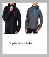 Spyder Men's Fanatic Ski Board Jacket with Hood Waterproof Gray/Blue, Black/Red