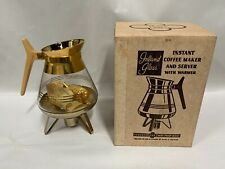 UNUSED Vtg Modern Inland Glass Pot Carafe Instant Coffee Maker Server Warmer (A7