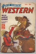 Blue Ribbon Western October 1949 Vintage Pulp Magazine Very Good