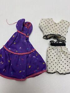Vintage Barbie Mattel Purple Sun Dress Midriff Top & Skirt Has No Tag / Labels