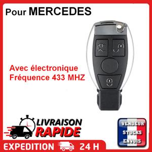 Schlüssel Leer Smart + Elektronisch Kompatibel Mercedes Benz nec Und Bga 433 MHZ