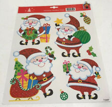 Christmas Santa Window Clings 7 Count Decorations Holiday Decor