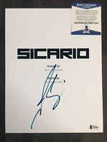 Josh Brolin Signed Sicario Movie Script Screenplay Autograph BECKETT BAS