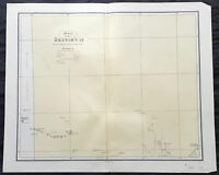 1886 John Sands Large Antique Map of Central Northern Territory, Australia