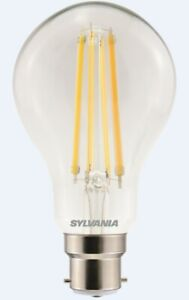 Sylvania 12W = 100W dimmable GLS light bulb B22 BC warm white 2700K 1521lm