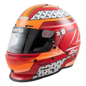 Zamp RZ62 Helm SA2020 Hans Kompatibel - Rot/Orange Größe L 60cm