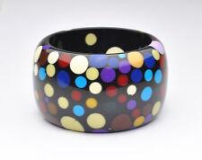 Designer SOBRAL Colorful Polka Dot Huge Wide Bangle Bracelet