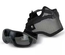Swiss Army Airsoft Half Face Mesh Mask & Protective Goggles Combo #603991