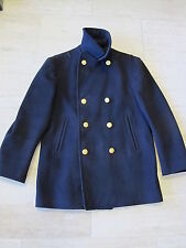 Vintage Authentic USN US Navy Blue Peacoat 100% Wool 8 Gold Button Pea Coat 42
