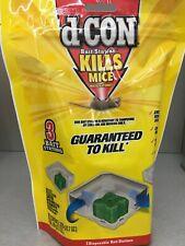 d-CON Disposable Corner Fit Mouse Poison Bait Station, 3 Bait Stations