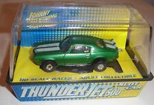 JL JOHNNY LIGHTNING T-JET SLOT CAR HO SCALE TUFF ONES CHEVY CAMARO GREEN/WHITE