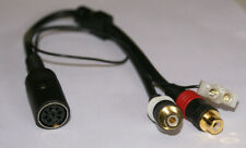 Bang Olufsen Tandberg Female DIN to Female RCA Adapter Gold Cable W/Ground New