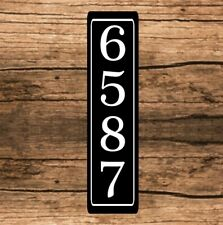 "Personalized Home Address Sign Aluminum 3"" x 12"" Custom House Number Plaque sq9"