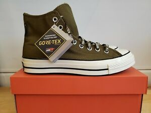 NEW CONVERSE CHUCK 70 GORE-TEX HIGH TOP DARK MOSS 168859C SHOES FOR MEN