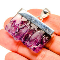 """Amethyst Stalactite 925 Sterling Silver Pendant 1 1/2"""" Ana Co Jewelry P753690F"""