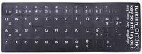 Türkisch Keyboard Tastaturaufkleber Sticker Schwarz Tastatur Aufkleber Türkce