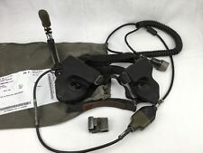 BW Headset Elno H-390 Brechkupplung NF10 u. U 77 Stecker, ex Bundeswehr