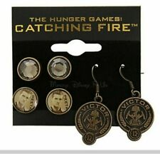 The Hunger Games Catching Fire Victors PEETA 3 Pair Earrings Costume Jewelry New