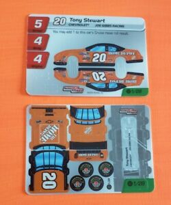 2005 Race Day Unpunched Car 2 pieces #1 Tony Stewart