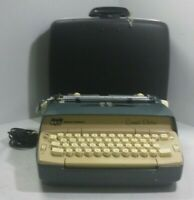 Vintage Smith-Corona Coronet Electric Portable Typewriter W/Case Parts/Repair