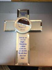 MIRRORED CROSS ----TRIBUTE TO MOTHER---NEW IN BOX-------------------c2