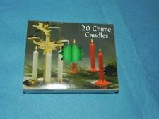 """Christmas Angel Chime Candles, Emerald Green, Box of 20, NIB, 1/2"""" by 4"""" tall"""