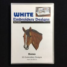 Horses Embroidery Designs Card Fits Brother Baby Lock White Simplicity