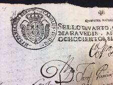 Manuscrito española 1807