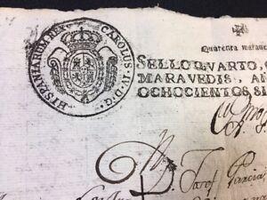 SPANISH MANUSCRIPT 1807