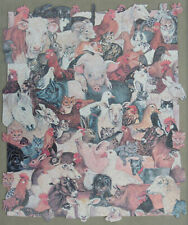 VINTAGE ERIC PEDLEY WOODEN JIGSAW PUZZLE. ALL CREATURES GREAT AND SMALL 756 PCS.