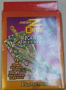 Panthetron Earth Defenders 3-D Model Puzzle MegaZCardz - 2 Cards With 50+ Pieces