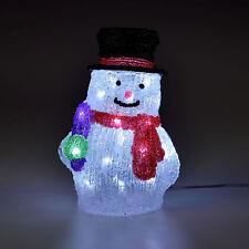 [in.tec] Pupazzo di Neve LED 26cm Decorazione Natalizia Illuminazione Luce