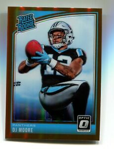 DJ Moore 2018 Donruss Optic #166 Rated Rookie Bronze Parallel RC Panthers